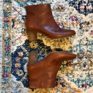 J. Crew Brown Leather Boots